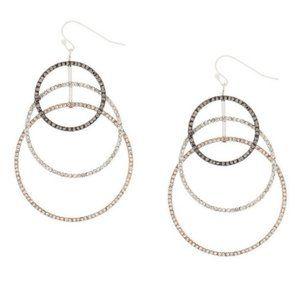 🆕Cascading circle drop earrings